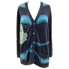 Iceberg blue fish sweater