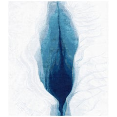 Iceberg Hand-Knotted Wool and Silk 2.5 x 3.0m Rug