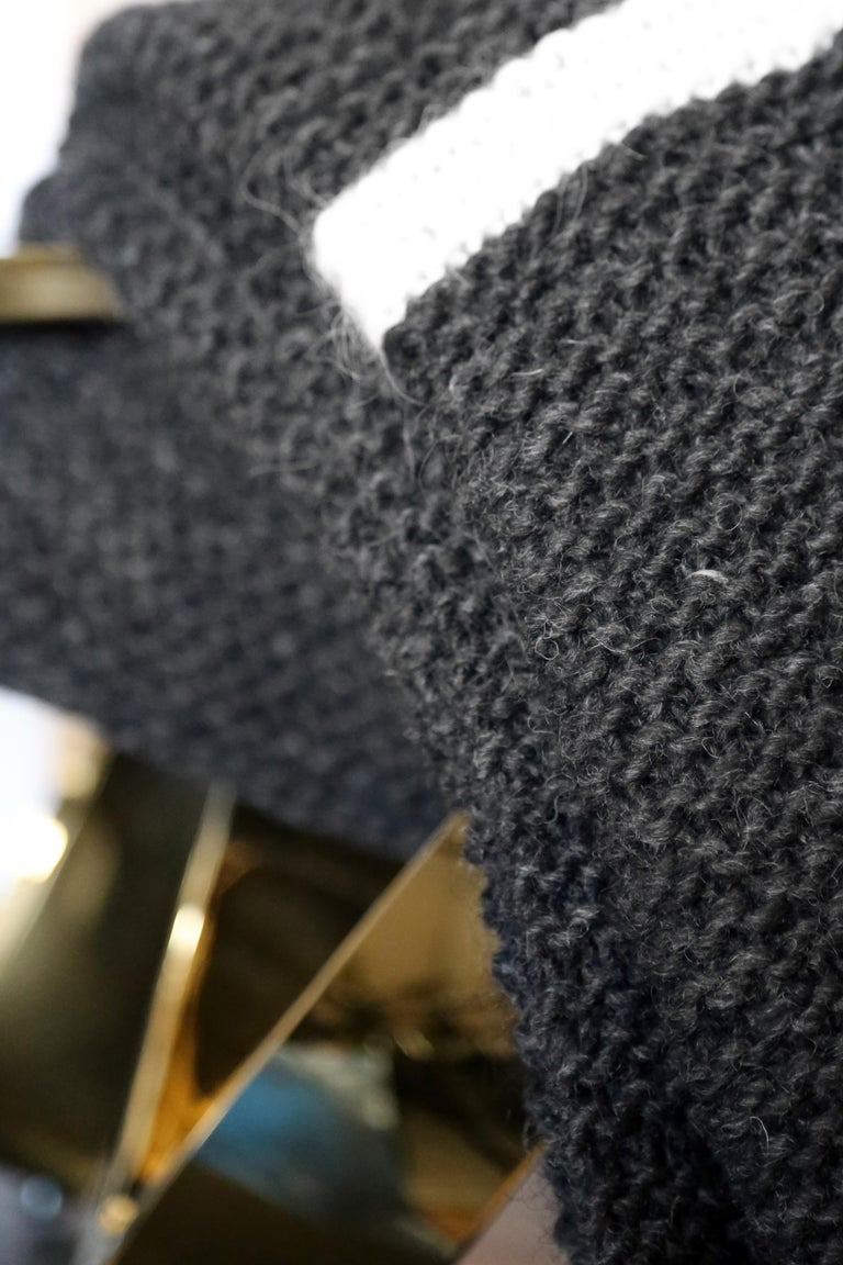 Simple design and high quality blanket will fit in every home or other favorite place of yours.  Design by Railis Hand knitted in Iceland Title is after Icelandic volcano Krafla.  This stunning piece can be used as a modern accent to bring