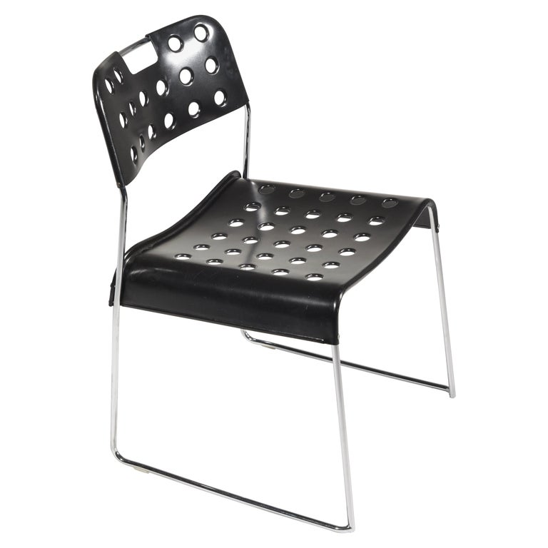 ICF Stacking Chair in Black For Sale