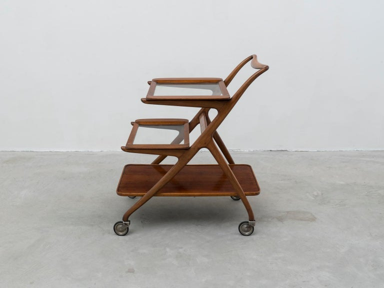 Mid-Century Modern Ico and Luisa Parisi Model 65 Midcentury Serving Cart for De Baggis, 1952 For Sale
