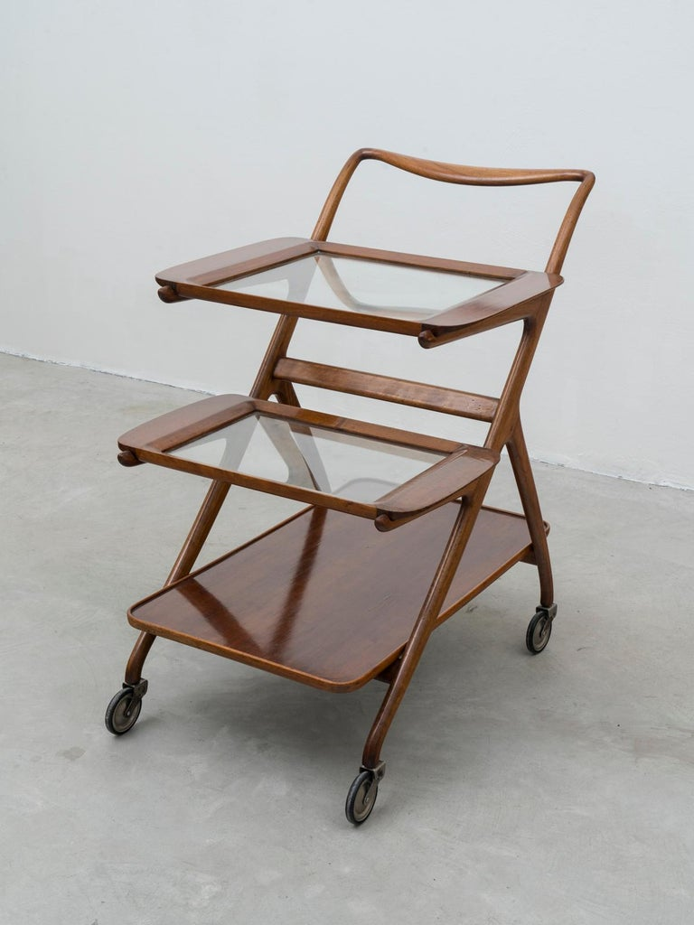 Mid-20th Century Ico and Luisa Parisi Model 65 Midcentury Serving Cart for De Baggis, 1952 For Sale