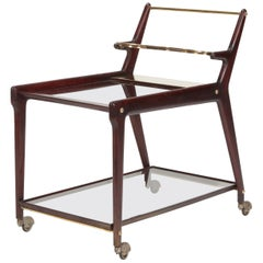 Ico & Luisa Parisi Bar Cart Mahogany, 1950s