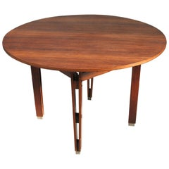 Ico & Luisa Parisi Vintage Round Wooden Table Olbia Model Italian Midcentury