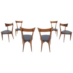 Ico Parisi and Luisa Parisi set of 6 Chairs for Ariberto Colombo