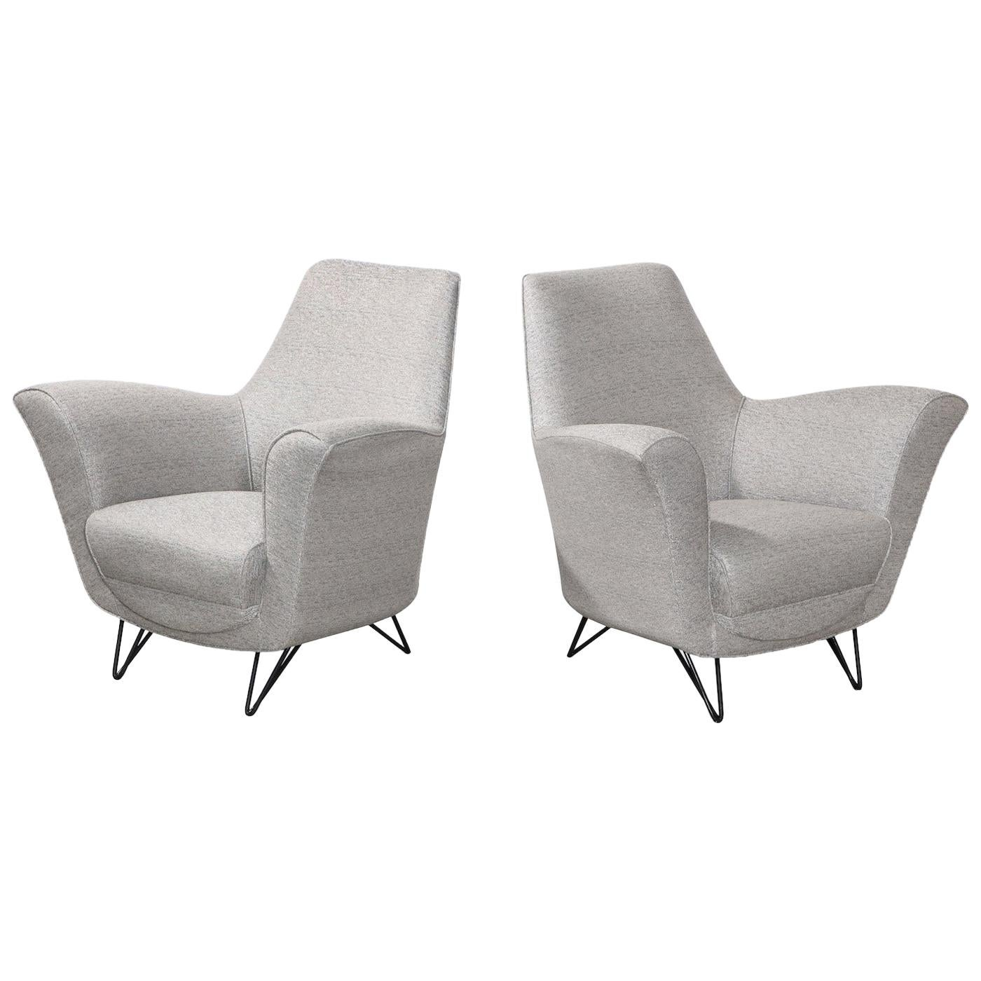 Ico Parisi Attributed Lounge Chairs