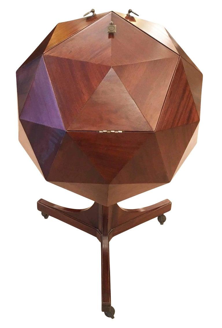 Italian Ico Parisi Attributed Polygonal Bar Cart For Sale