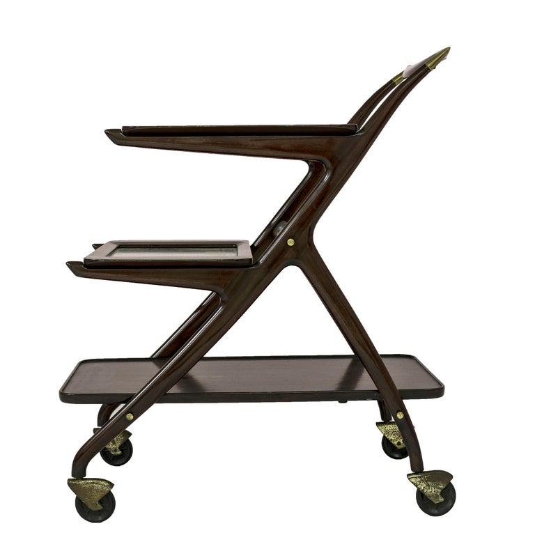Ico Parisi Bar Cart for De Baggis, 1950s In Excellent Condition In Milan, IT
