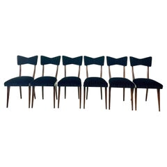 Ico Parisi Bow Tie Dining Chairs, Set of 6