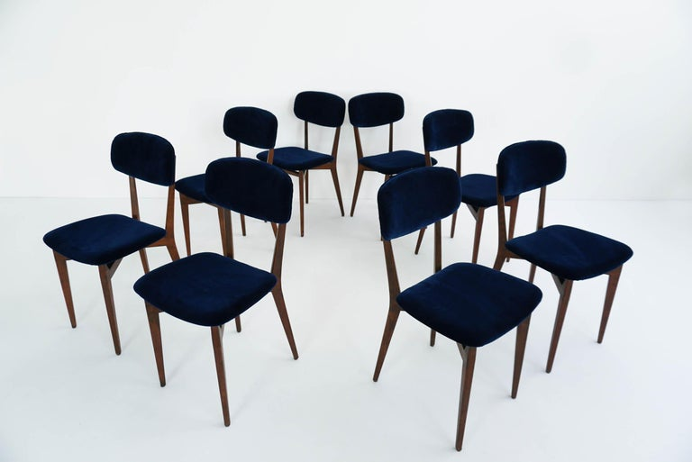 Rare set of eight chairs. 