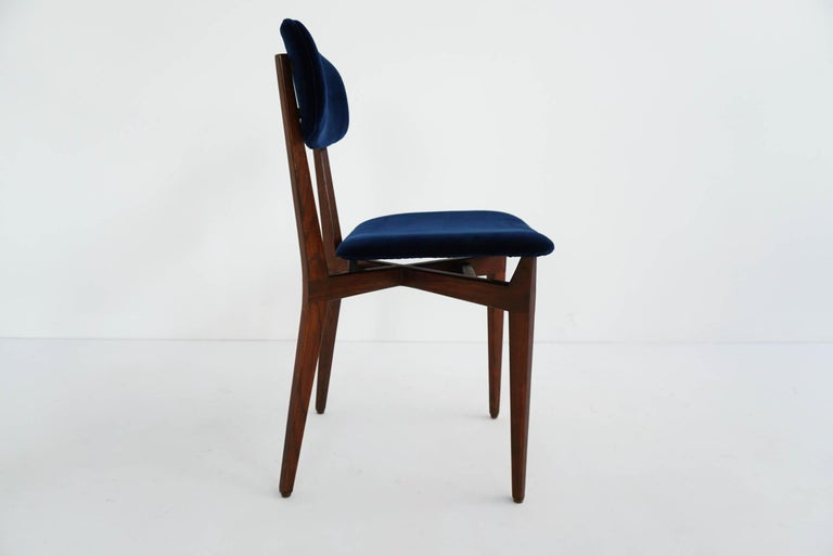 Ico Parisi, Cassina, Italy, 1955 Rare Set of Eight Chairs Mod. 691 In Excellent Condition For Sale In Chiasso, CH