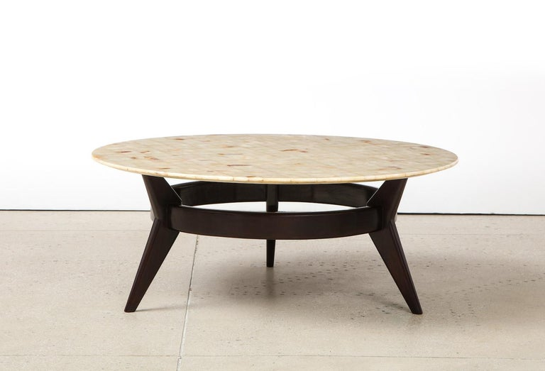 Mahogany Ico Parisi Cocktail Table For Sale