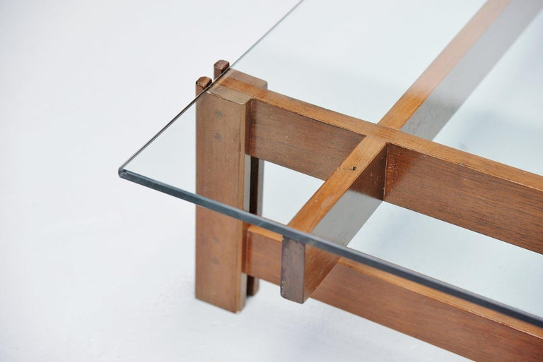 Glass Ico Parisi Coffee Table Cassina Italy 1962 For Sale
