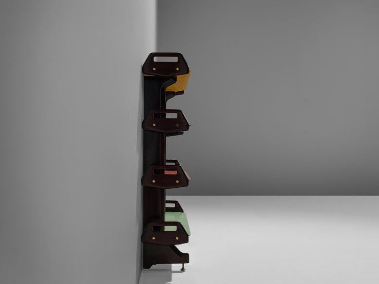 Ico Parisi Colorful Bookcase Model '457' in Wood and Metal For Sale 4