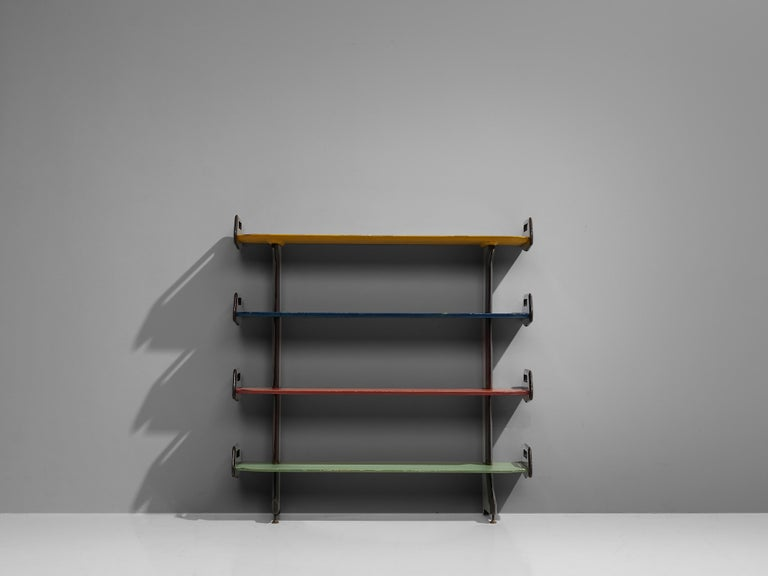 Ico Parisi Colorful Bookcase Model '457' in Wood and Metal For Sale 2