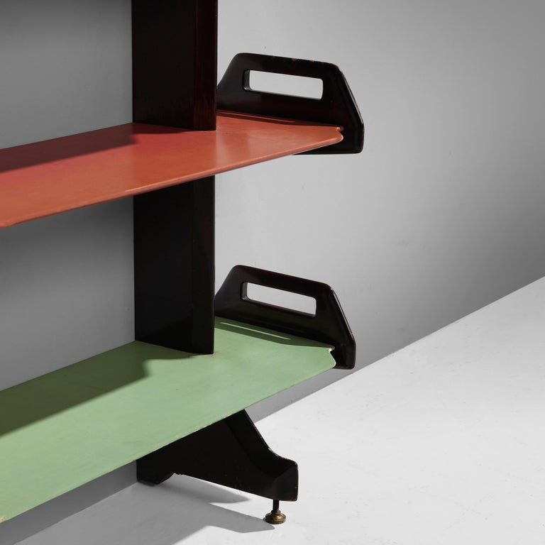 Ico Parisi Colorful Bookcase Model '457' in Wood and Metal For Sale 3