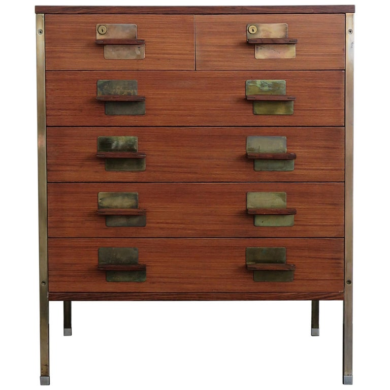 huge selection of 43318 75cd6 Ico Parisi Dark Wood Chest of Drawers