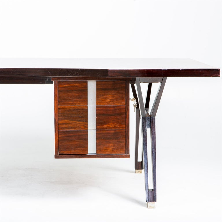 Mid-Century Modern Ico Parisi Desk for MIM, Italy, 1960s For Sale