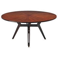 Ico Parisi Dining Table in Rosewood for MIM Roma