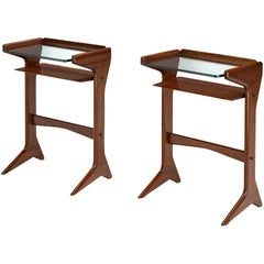 Ico Parisi for Angelo de Baggis Pair of Side Tables Model '360' in Mahogany