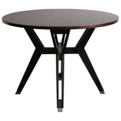 Ico Parisi for Mim Italian Midcentury Dark Wood Dining Table, 1960s