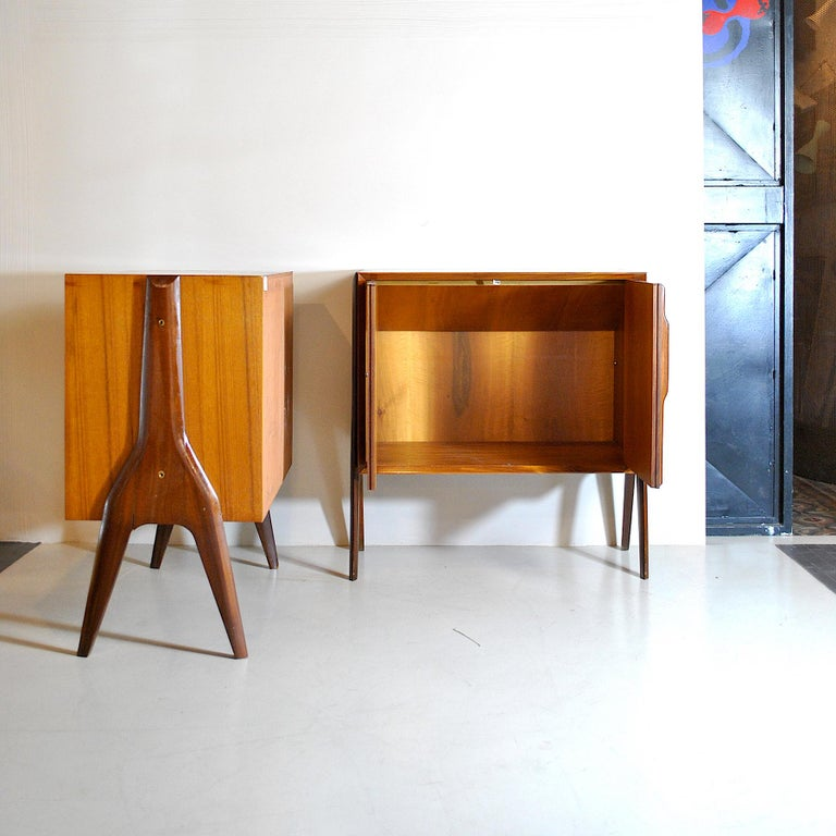 Ico Parisi in the Style Set of Cases in Wood For Sale 4