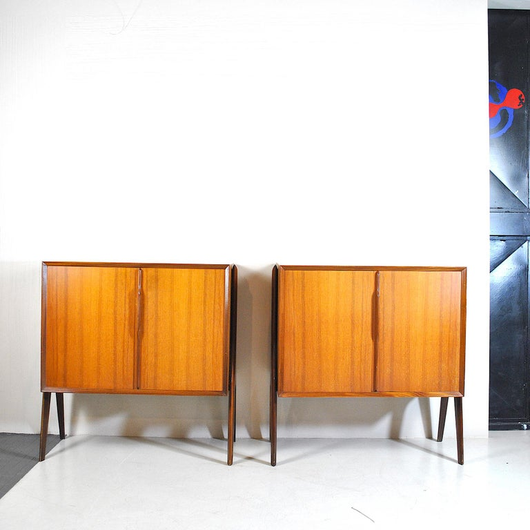 A pair of little buffets in the style of Ico Parisi an Italia production form late 1960s.