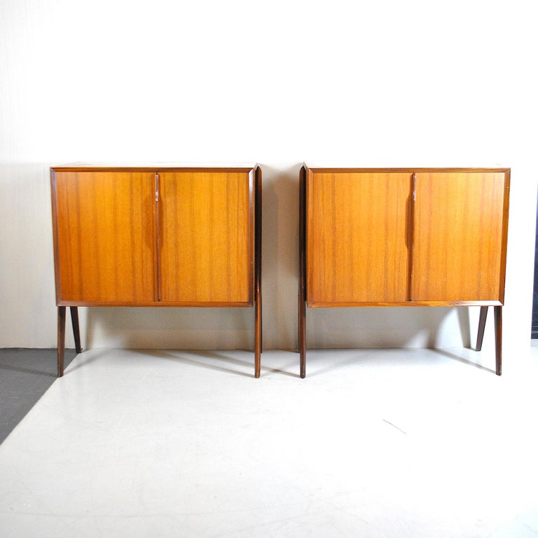 Mid-Century Modern Ico Parisi in the Style Set of Cases in Wood For Sale