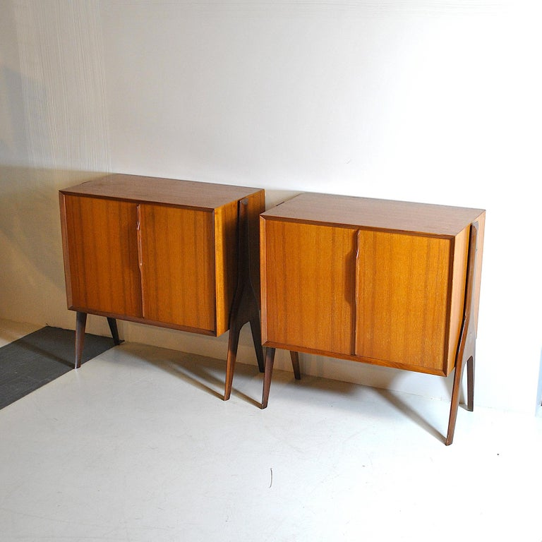 Ico Parisi in the Style Set of Cases in Wood In Good Condition For Sale In bari, IT