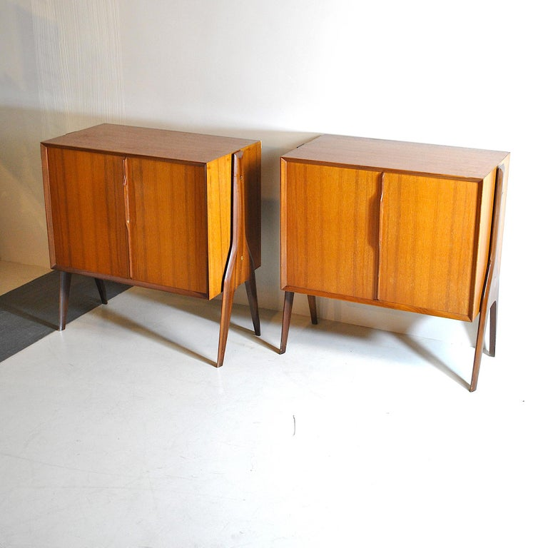 Mid-20th Century Ico Parisi in the Style Set of Cases in Wood For Sale