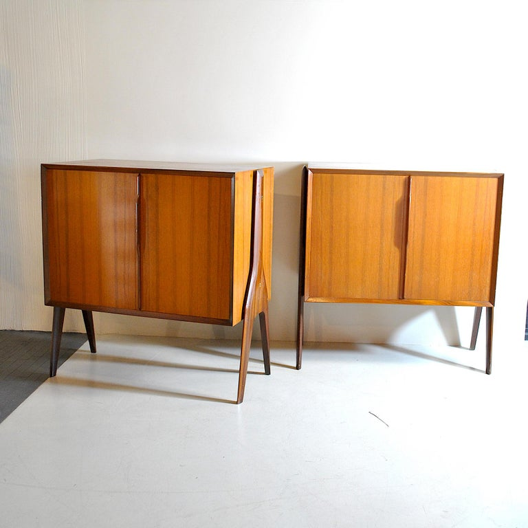 Ico Parisi in the Style Set of Cases in Wood For Sale 1