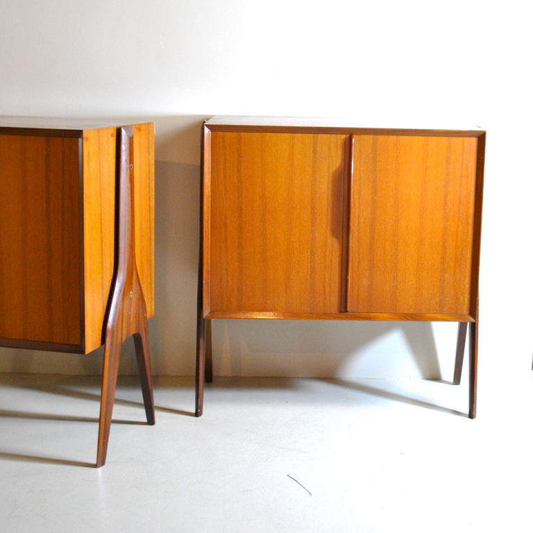 Ico Parisi in the Style Set of Cases in Wood For Sale 2