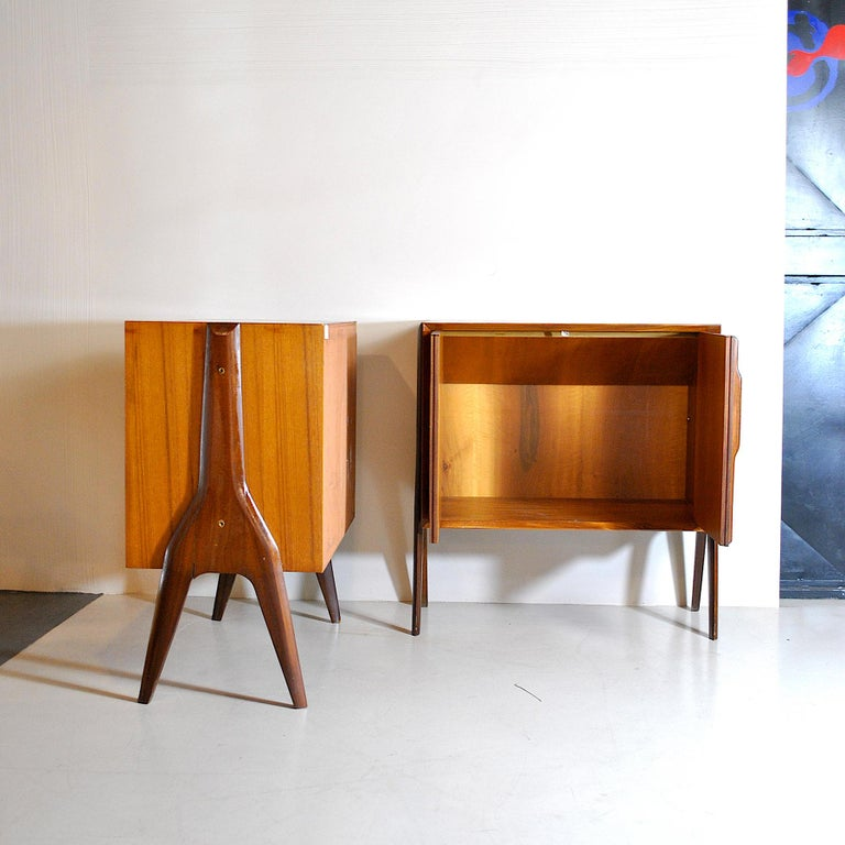 Ico Parisi in the Style Set of Cases in Wood For Sale 3