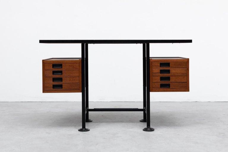 Italian Ico Parisi Inspired Modernest Desk or Vanity For Sale