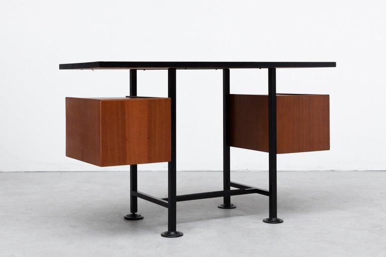Enameled Ico Parisi Inspired Modernest Desk or Vanity For Sale