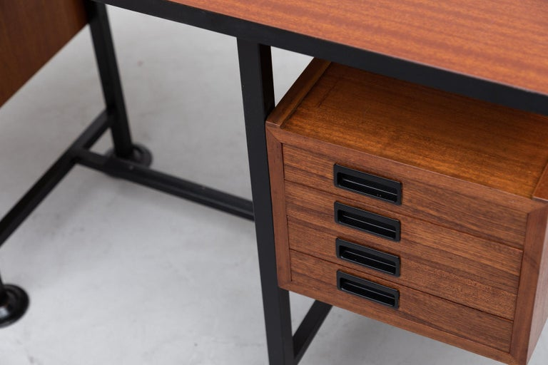 Mid-20th Century Ico Parisi Inspired Modernest Desk or Vanity For Sale