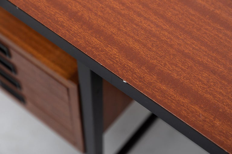 Teak Ico Parisi Inspired Modernest Desk or Vanity For Sale