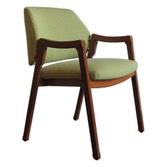 Ico Parisi Italian Fabric and Wood Armchair Model 814 for Cassina, 1960s