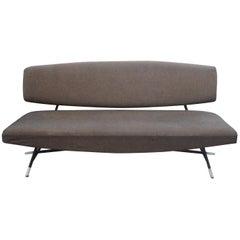 "Ico Parisi, Italian Mid-Century Modern, Grey Geometric ""Model 865"" Sofa, 1955"