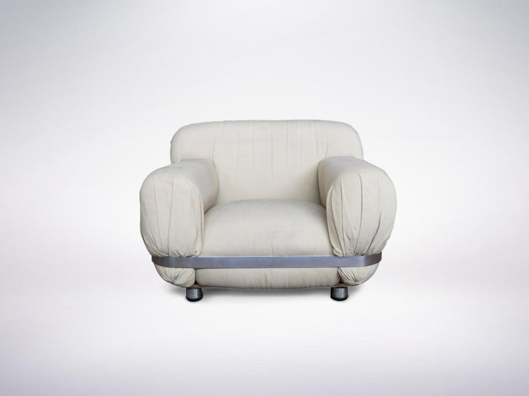Ico Parisi, Italian mid-century one-off commissioned armchair, 1971.    Please note : the