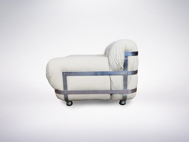 Mid-Century Modern Ico Parisi, Italian Mid-Century One-off Commissioned Armchair, 1971 For Sale
