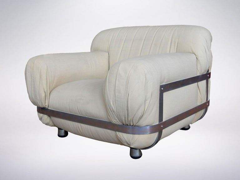 Late 20th Century Ico Parisi, Italian Mid-Century One-off Commissioned Armchair, 1971 For Sale