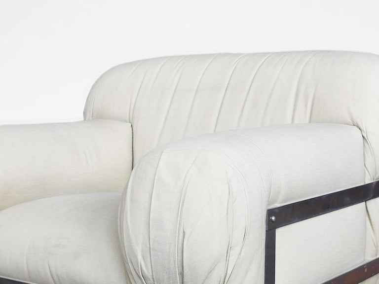 Metal Ico Parisi, Italian Mid-Century One-off Commissioned Armchair, 1971 For Sale