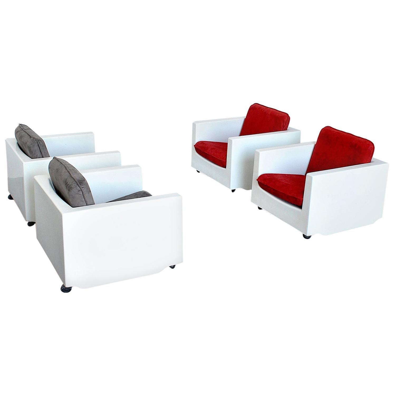 Ico Parisi Italian Midcentury Armchairs for Mim