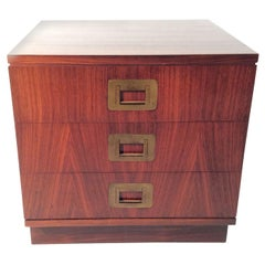 Ico Parisi Mid Century Italian Night Table Little Chest Brass Handles Published
