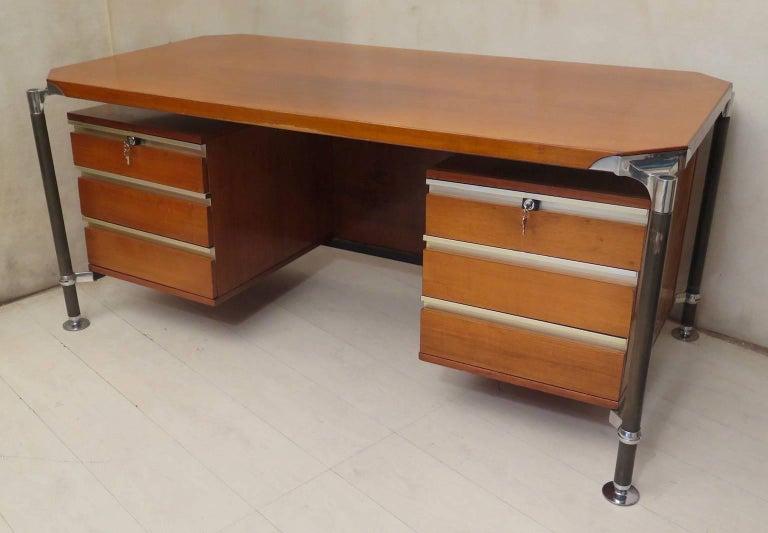 Mid-Century Modern Ico Parisi MIM Roma Italian Midcentury Desk, 1950 For Sale