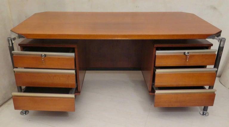 Ico Parisi MIM Roma Italian Midcentury Desk, 1950 For Sale 2