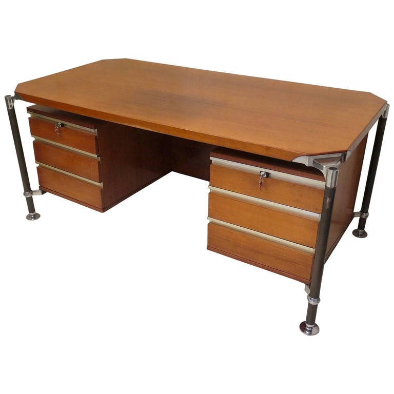 Ico Parisi MIM Roma Italian Midcentury Desk, 1950 For Sale