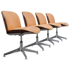 Ico Parisi Mim Terni Office Chairs Set, Italy, 1958