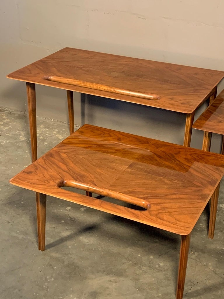 Mid-Century Modern Ico Parisi Nesting Tables, Italy, circa 1950s For Sale